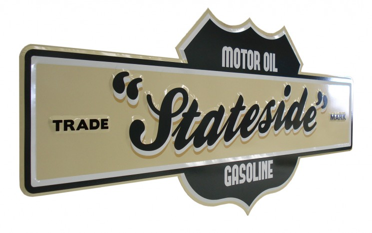 Faux vacuum formed sign with routered lettering movie set prop