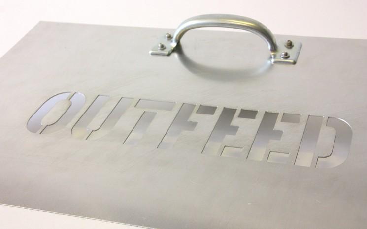 Twenty gauge aluminum stencil