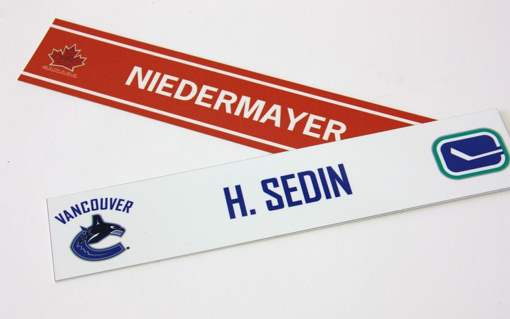 Colour printed sports nameplates