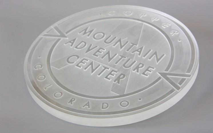 Multi level engraved acrylic business sign