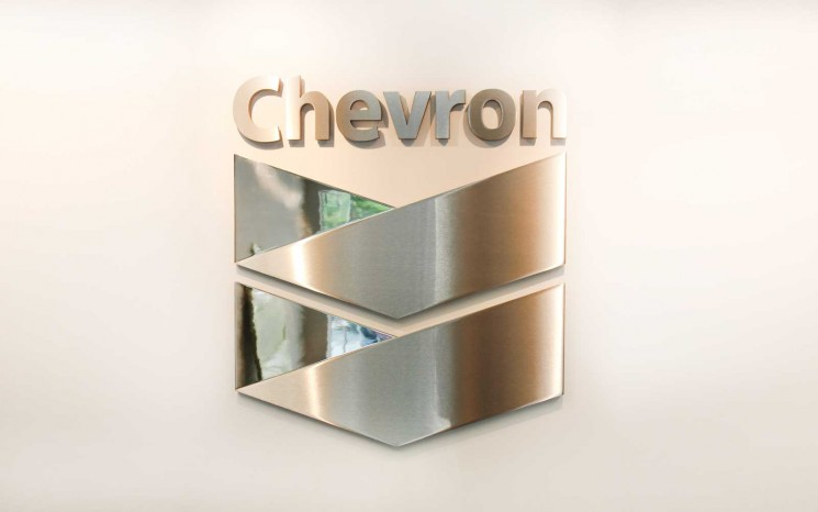 Reception logo in brushed and mirror polished stainless steel