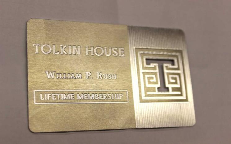 Aluminum engraved plaque